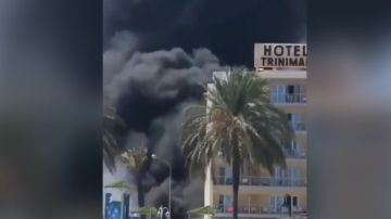 Incendio en un hotel de Benicàssim (Castellón)
