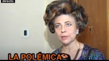 Isabel durante una de sus intervenciones en Espejo Público
