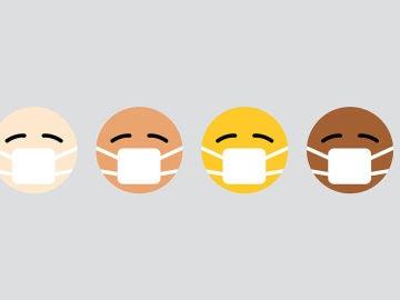 Emojis de distinto color de piel