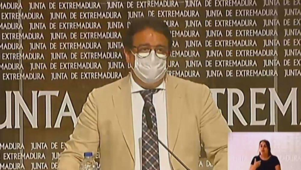 José María Vergeles, consejero de Sanidad de Extremadura