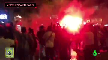 Disturbios en París tras la clasificación del PSG a semifinales de la Champions
