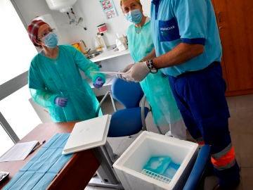 Recogida de pruebas en un centro de salud andaluz
