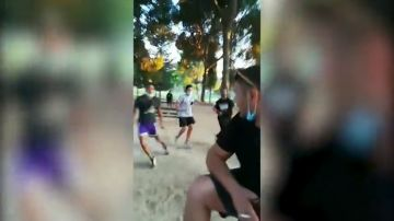 Multitudinaria pelea a machetazos en un parque en Zaragoza