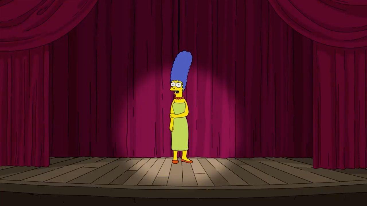 Marge Simpson, en una escena difundida en Twitter