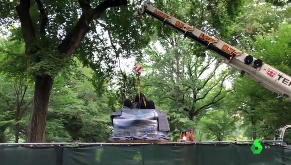 Primera estatua de una mujer en Central Park