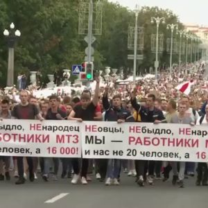 Miles de bielorrusos vuelven a llenar las calles contra Lukashenko, conocido como 'el último dictador de Europa'