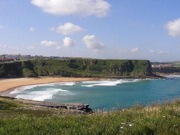 Playa Los Locos en Suances, Cantabria
