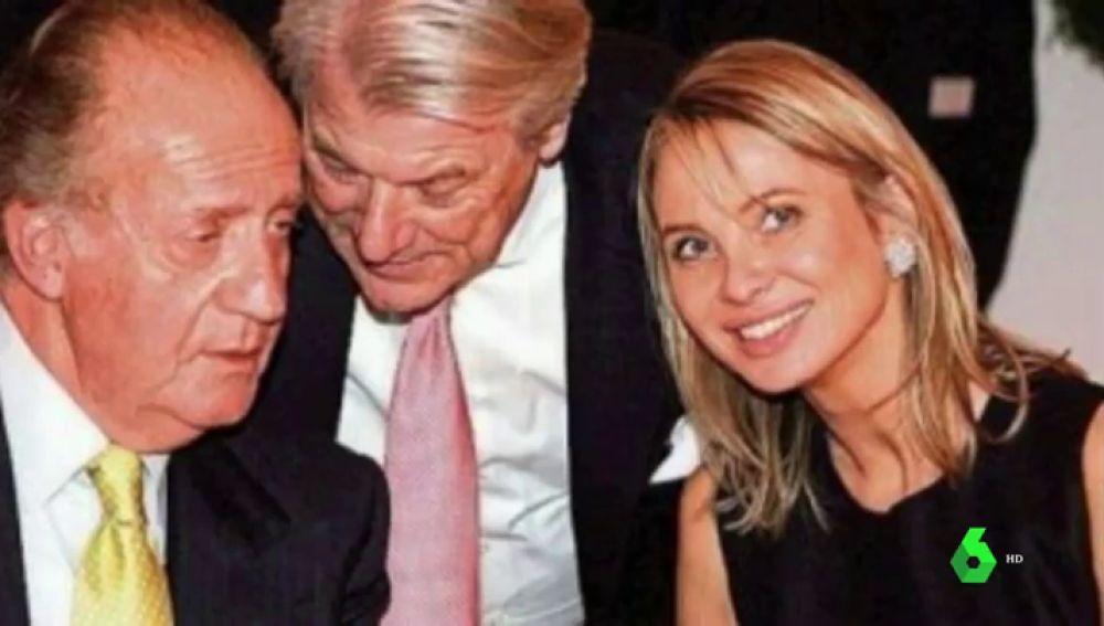 Corinna Larsen junto al rey emérito