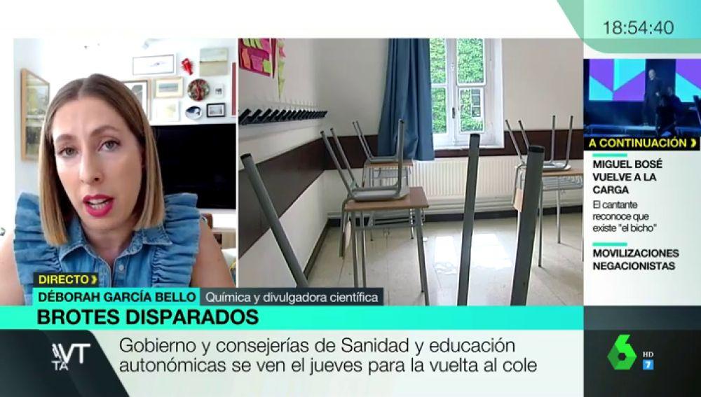 Deborah García, química y divulgadora científica, en Más Vale Tarde