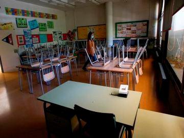 Aula vacía en un centro escolar