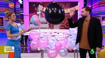 Valeria Ros monta una 'baby shower' con un kit comprado en internet y desvela el nombre de su bebé