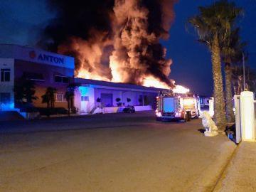 Incendio en Burriana
