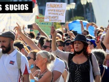 Manifestación contra el uso de la mascarilla en Colón