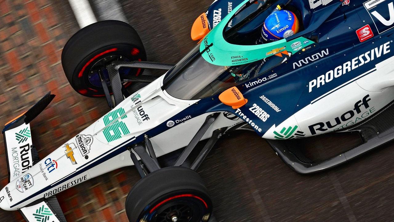 Fernando Alonso sufrió problemas mecánicos hacia el final de carrera