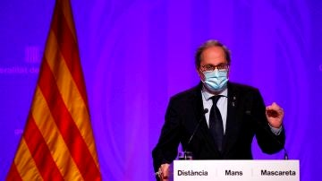 Quim Torra anuncia las nuevas medidas en Cataluña