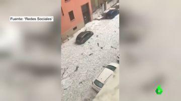 Una fuerte tormenta de granizo azota con fuerza la región italiana del Véneto