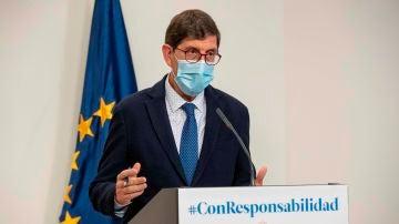 El consejero de salud de la Región de Murcia, Manuel Villegas.
