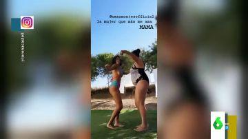 Lorena Castell arrasa en Instagram con un baile en bikini junto a su madre al ritmo de Omar Montes