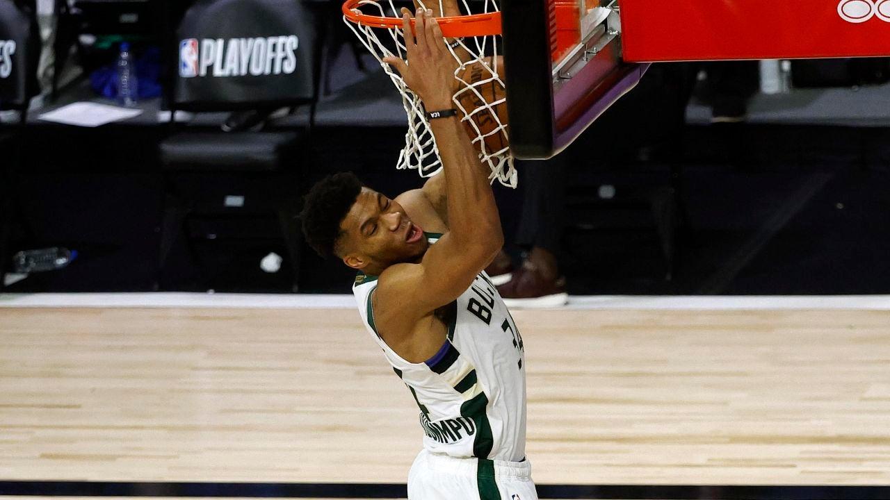 En la imagen, el ala-pívot estrella de los Bucks de Milwaukee, el griego Giannis Antetokounmpo.