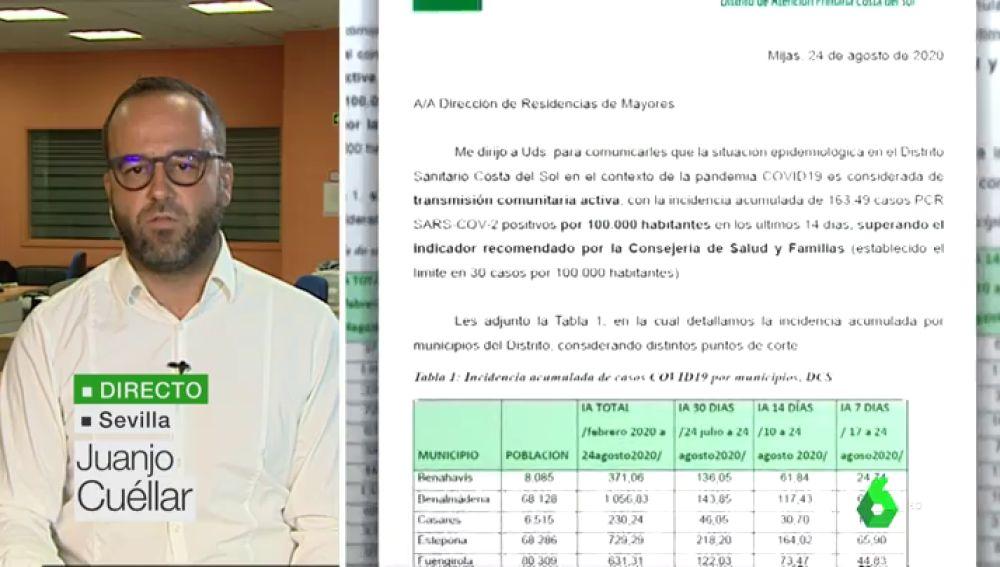 La Junta de Andalucía ocultó durante dos semanas que en las residencias de Málaga había transmisión comunitaria
