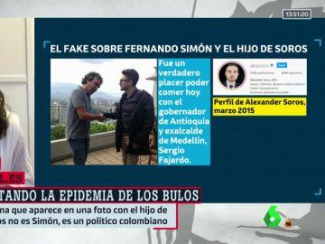 No, Fernando Simón no se reunió con el hijo de George Soros ni se fotografió con él