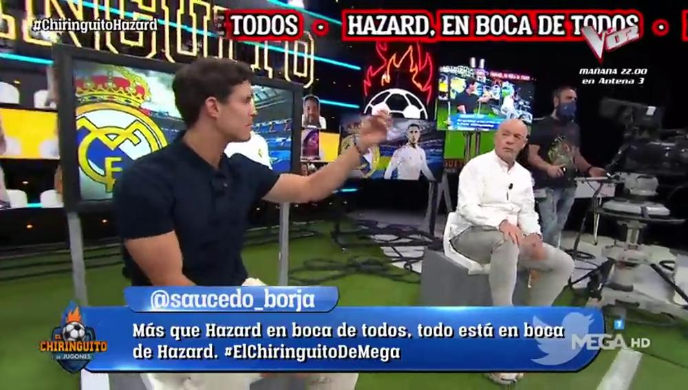 """Edu Aguirre desvela el """"problema"""" de Eden Hazard en un tenso cara a cara con Alfredo Duro: """"Come guarrerías"""""""