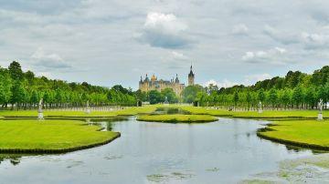 Panorámica del castillo de Schwerin y sus alrededores