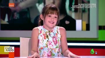 """La divertida respuesta de Luna Fulgencio conquista Zapeando: """"Lo siento Valeria, si vuelvo vas a volver a tener que sentarte en el público"""""""