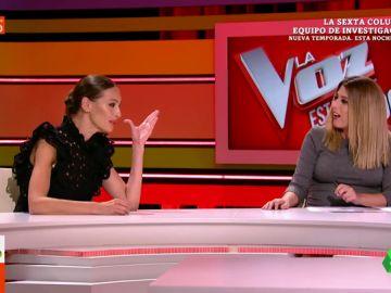 """La pregunta de Valeria Ros que pone en apuros a Eva González en directo: """"Perdón, no quería ponerte en un compromiso"""""""
