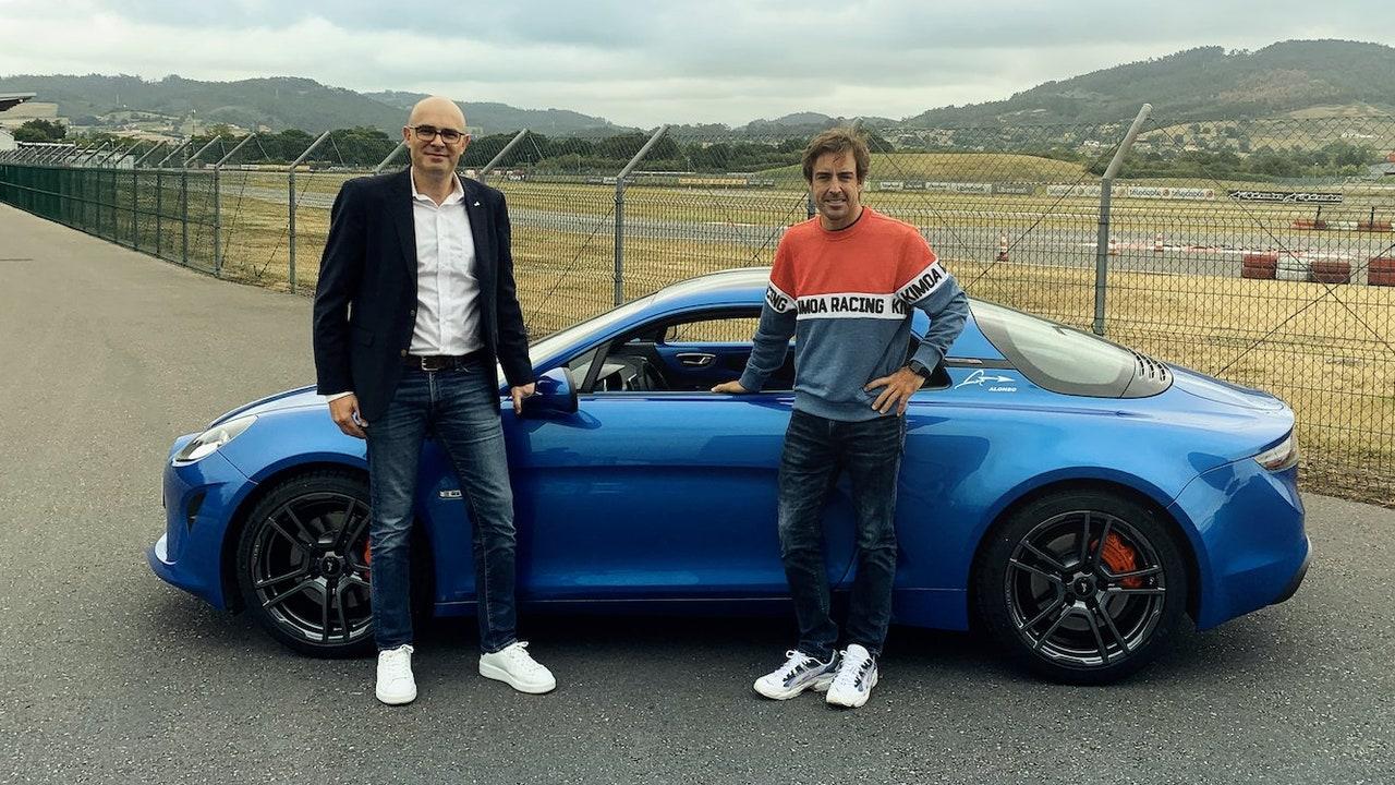 Fernando Alonso, con su nuevo Alpine