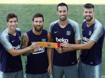Messi, Busquets, Piqué y Sergi Roberto
