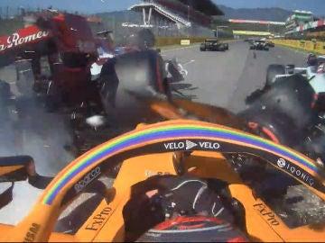 Carlos Sainz, en el accidente de Mugello