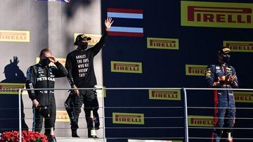 Alex Albon consiguió su primer podio en F1