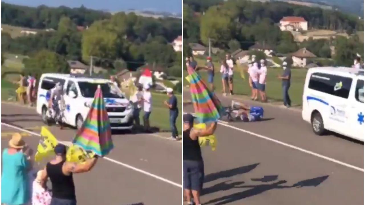 Jungels, atropellado por una ambulancia