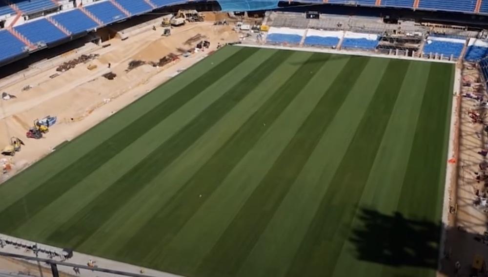 Estado actual del estadio Santiago Bernabéu