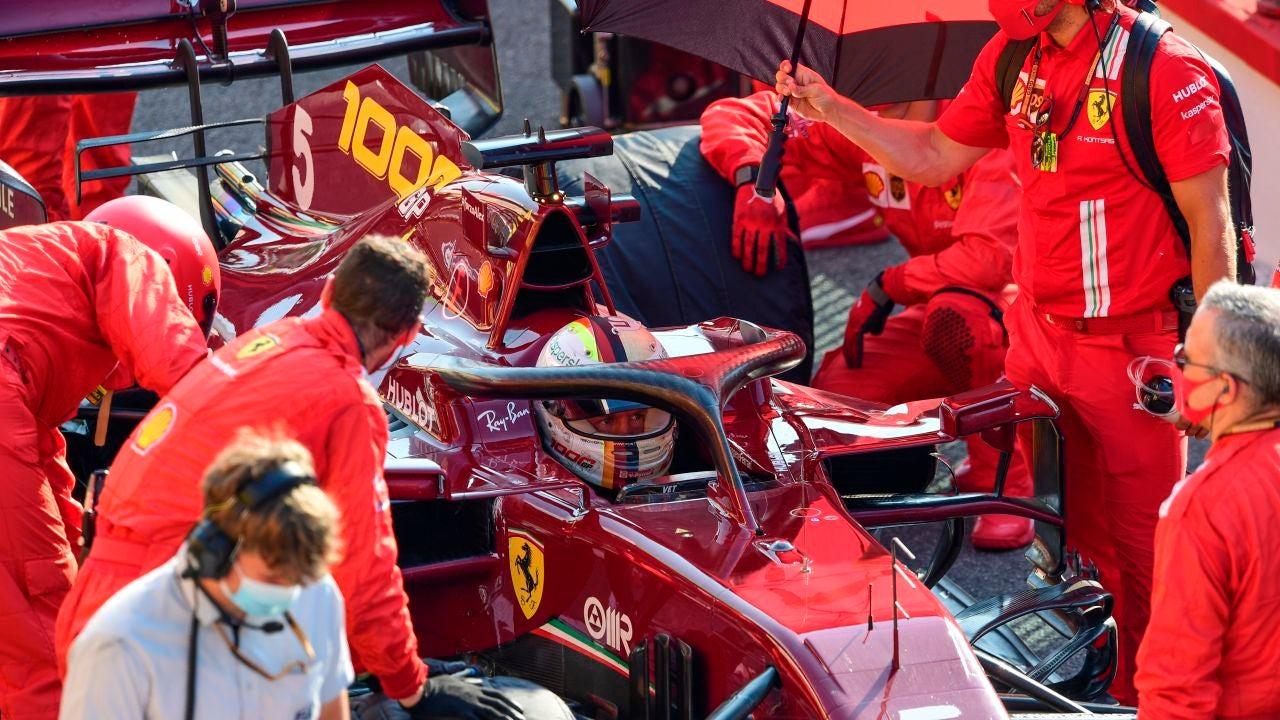 El Ferrari de Sebastian Vettel