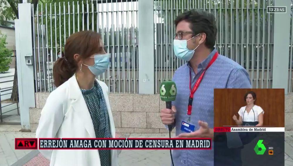"""Mónica García (Más Madrid), sobre liderar una moción de censura: """"Hemos convocado a todos los grupos para desalojar a Ayuso"""""""