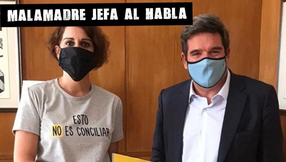 Laura Baena entrega el Manifiesto #EstoNoEsConciliar al Ministro de Seguridad Social, Inclusión y Migraciones José Luis Escrivá