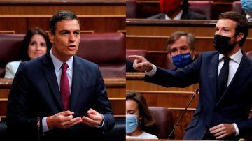 """laSexta Noticias 20:00 (16-09-20) Casado acusa al Gobierno de recortar y Sánchez responde: """"Los únicos recortes necesarios son en la corrupción del PP"""""""