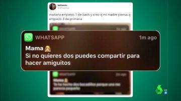 El whatsapp viral de un madre a su hija por su primer día en 1º de bachiller