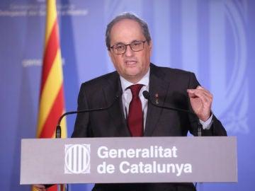 Quim Torra, a la delegació del Govern a Madrid