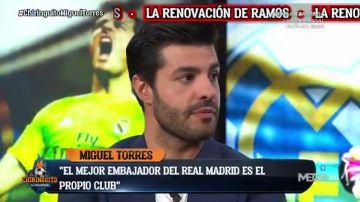 El primer día de Miguel Torres en 'El Chiringuito': Bale, Messi, Sergio Ramos...