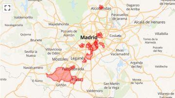 El mapa de las 37 zonas de salud afectadas por las nuevas restricciones anti COVID de Madrid