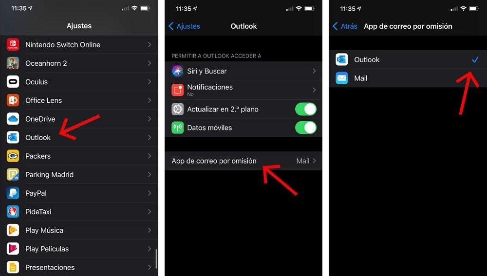 Cambiar la app de correo por omisión en iOS 14.