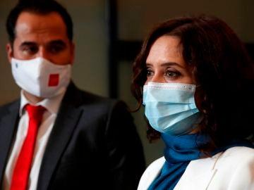 La presidenta de Madrid, Isabel Díaz Ayuso y el vicepresidente madrileño, Ignacio Aguado