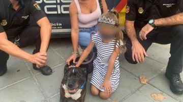 Imagen del perro que fue arrastrado