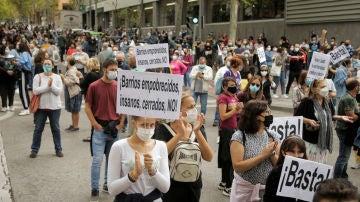 Imagen de la movilización en Madrid contra las restricciones por el coronavirus