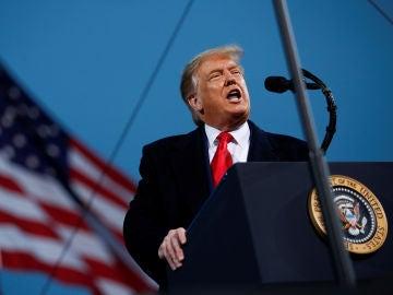 Donald Trump, durante un mitin en Fayetteville, Carolina del Norte
