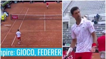 El juez de silla llama 'Federer' a Djokovic