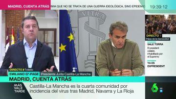 Emiliano García-Page, presidente de Castilla-La Mancha, en Más Vale Tarde.